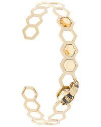 Delfina Delettrez Geometric Bee Bracelet - Metallic