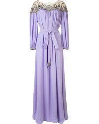 Marchesa デコラティブ ドレス - パープル