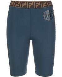Fendi モノグラム サイクリングショーツ - ブルー