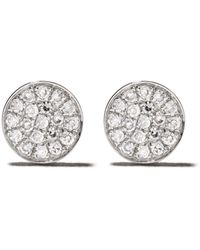 EF Collection ダイヤモンド ピアス 14kホワイトゴールド - マルチカラー