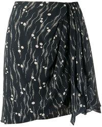Isabel Marant Dotted Pattern Asymmetric Skirt - Black