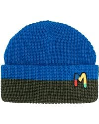 M Missoni Embroidered Logo Beanie - Blue