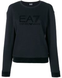 EA7 - Crew Neck Logo Jumper - Lyst