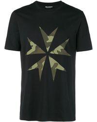 Neil Barrett Camouflage Printed T-shirt - Black