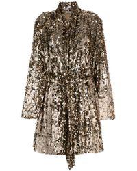 Attico - Sequins Embellished Coat - Lyst