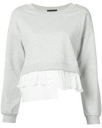 Boutique Moschino - Ruffle-trimmed Sweatshirt - Lyst