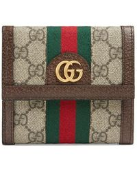 Gucci 〔オフィディア〕GG ウォレット - ブラウン