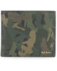 Paul Smith Portefeuille a motif camouflage Naked Lady - Vert
