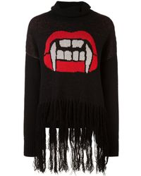 Haculla Caught Up Fringed Jumper - Black