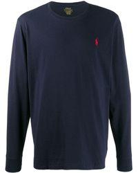 Polo Ralph Lauren Trui Met Geborduurd Logo - Blauw