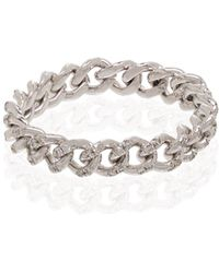 SHAY Кольцо Из Белого Золота С Бриллиантами - Белый