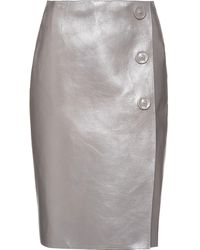 Prada レザー スカート - グレー