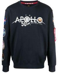 Alpha Industries スローガン スウェットシャツ - ブルー