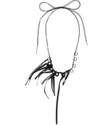 Ann Demeulemeester - Loop Tied Necklace - Lyst