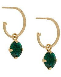 Wouters & Hendrix - A Wild Original! Emerald Crystal Hoop Earrings - Lyst
