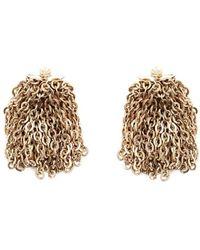 JW Anderson Chain Clip Earrings - Metallic