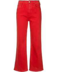 3x1 - Shelter Wide Leg Cropped Jeans - Lyst