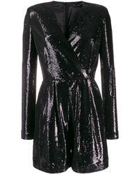P.A.R.O.S.H. Black Polyester Jumpsuit