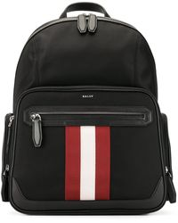 Bally - Striped Detail Backpack - Lyst