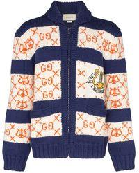 Gucci Gebreid Vest - Blauw