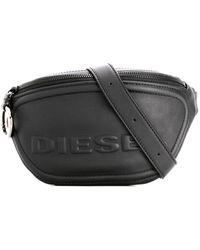 DIESEL Belt Bag In Leather - Black