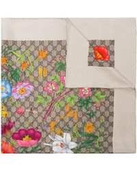 Gucci - Special Florio シルクスカーフ - Lyst