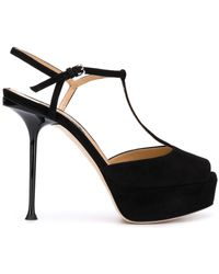 Sergio Rossi Sandalias stiletto con plataforma - Negro
