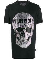 Philipp Plein Декорированная Футболка С Короткими Рукавами - Черный
