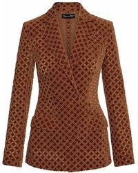 Oscar de la Renta Two-piece Jacquard Suit - Brown