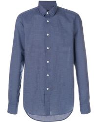Dell'Oglio Long sleeved button up shirt - Bleu