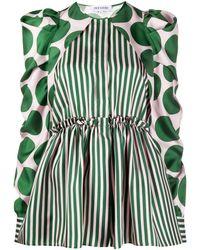 Dice Kayek Multi-print Peplum Blouse - Green