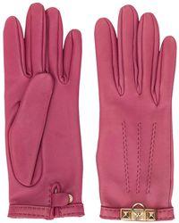 Hermès Guanti con placca - Rosa
