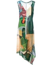 Osklen - Printed Draped Dress - Lyst