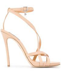 DSquared² Multi-strap Stiletto Sandals - Natural