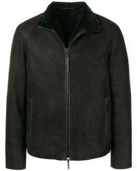 Emporio Armani - Band Collar Jacket - Lyst
