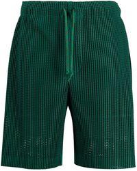 Homme Plissé Issey Miyake Bermudas joggers plisadas - Verde