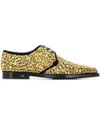 Dolce & Gabbana Derby-Schuhe mit Kristallen - Mettallic