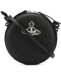 Vivienne Westwood Logo Plaque Crossbody Bag - Black