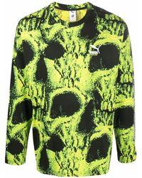 PUMA スカルプリント ロングtシャツ - ブラック