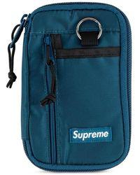 Supreme ファスナー クラッチバッグ - ブルー