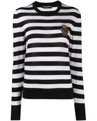 Dolce & Gabbana Джемпер В Полоску С Вышитым Логотипом - Черный