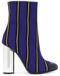 Marco De Vincenzo - Striped Ankle Boots - Lyst