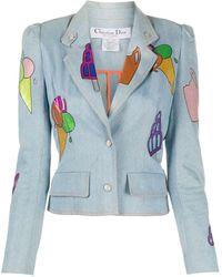 Dior Джинсовая Куртка С Принтом - Многоцветный
