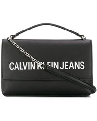 Calvin Klein ロゴ サッチェルバッグ - ブラック