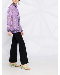 Emilio Pucci Рубашка С Высоким Воротником Из Коллаборации С Koché - Пурпурный