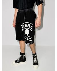 Mastermind Japan Pantalones cortos de deporte con logo - Negro