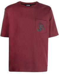 U.P.W.W. Logo-print Pocket T-shirt - Red