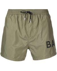 Balmain - Logo-print Swim Shorts - Lyst