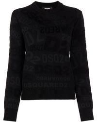 DSquared² - Intarsia-knit Jumper - Lyst