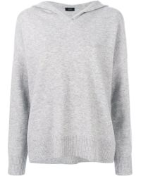 JOSEPH Knitted Hoodie - Grey